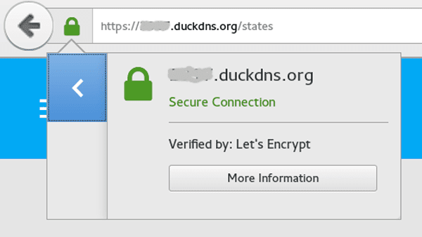 Effortless encryption with Let's Encrypt and DuckDNS - Home