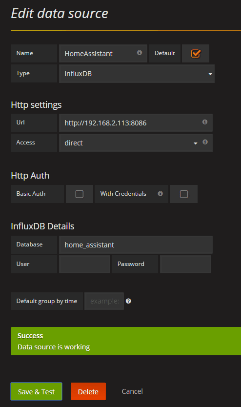 Setting up InfluxDB and Grafana using Docker - Home Assistant
