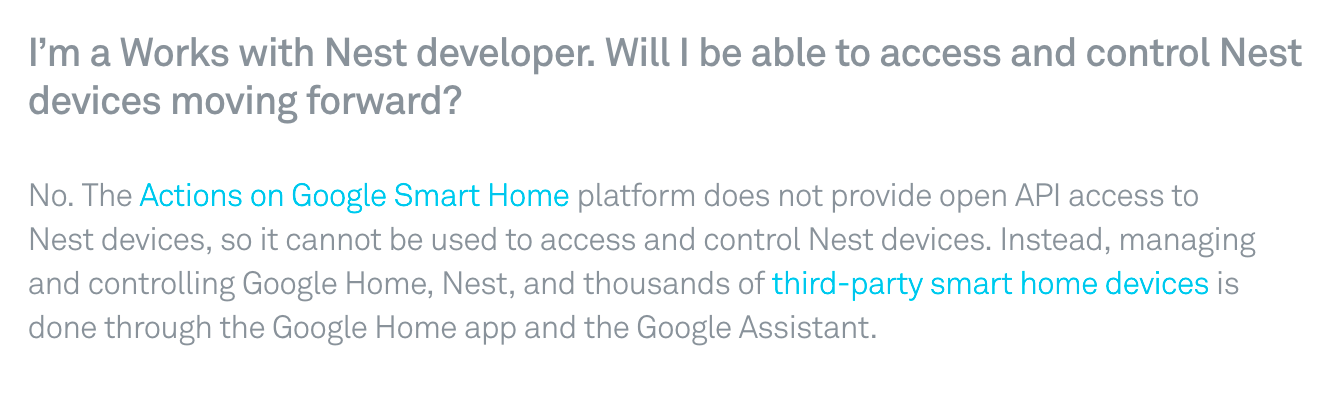 Update: new users only] Nest to turn off their API - Home Assistant