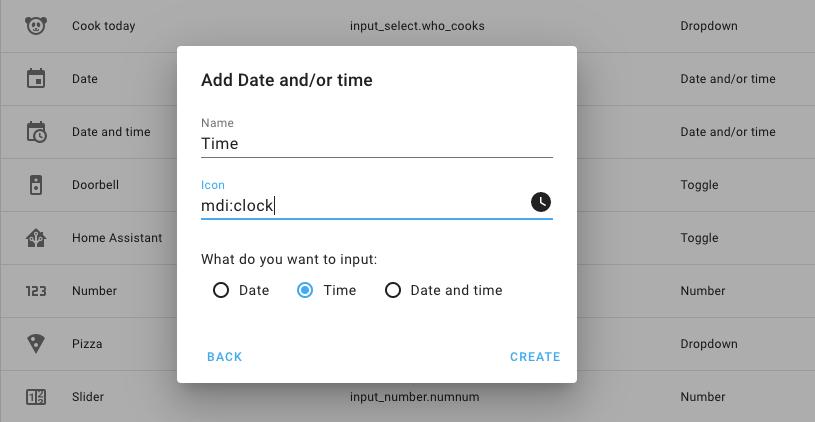 Capture d'écran d'une boîte de dialogue de configuration d'aide