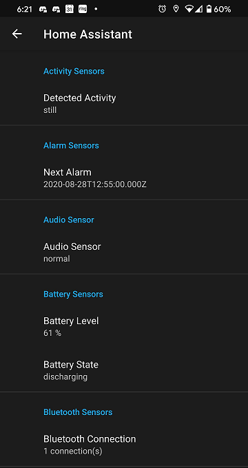 Screenshot of Manage Sensors