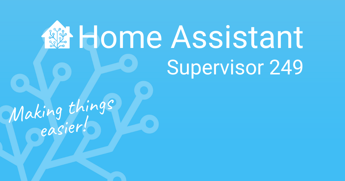 Home Assistant Supervisor 249