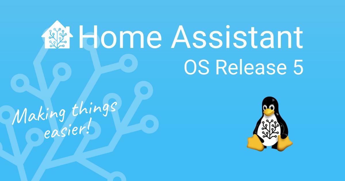 Home Assistant OS versión 5