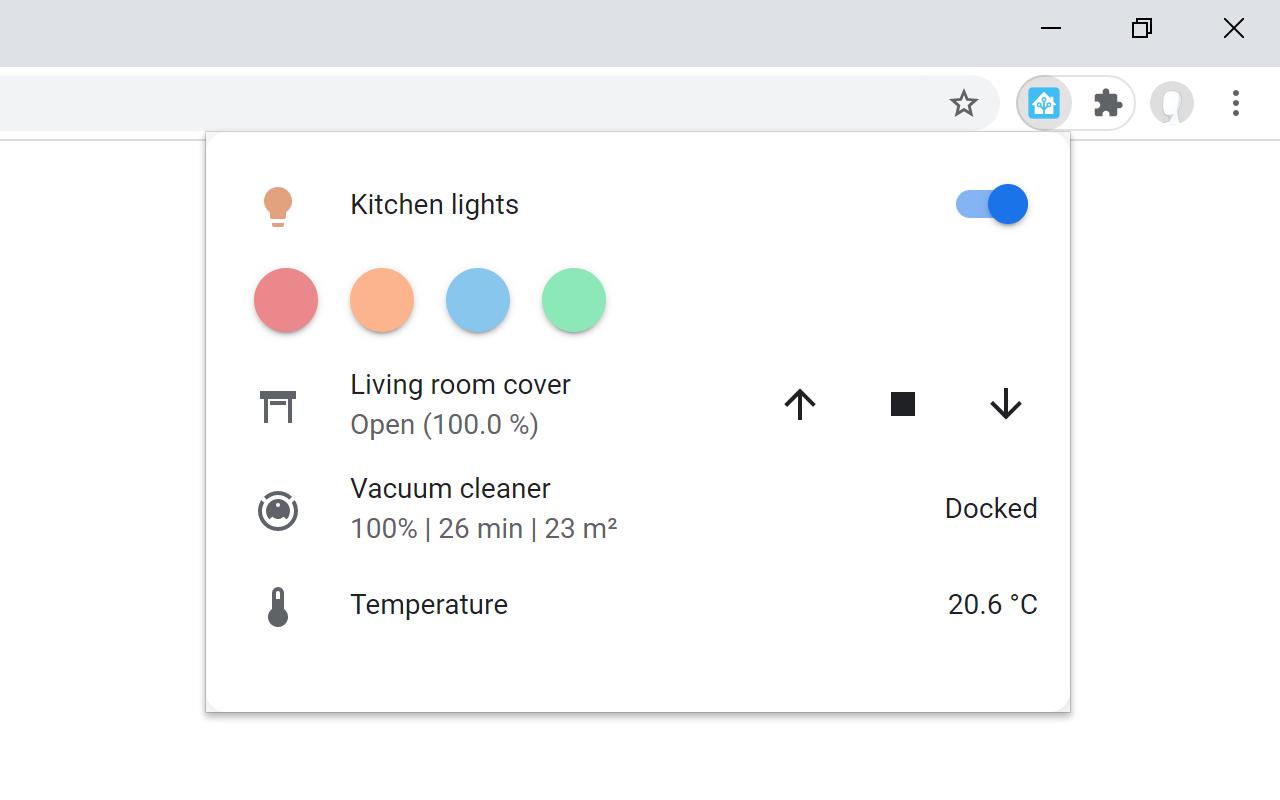 Extension de navigateur Home Assistant