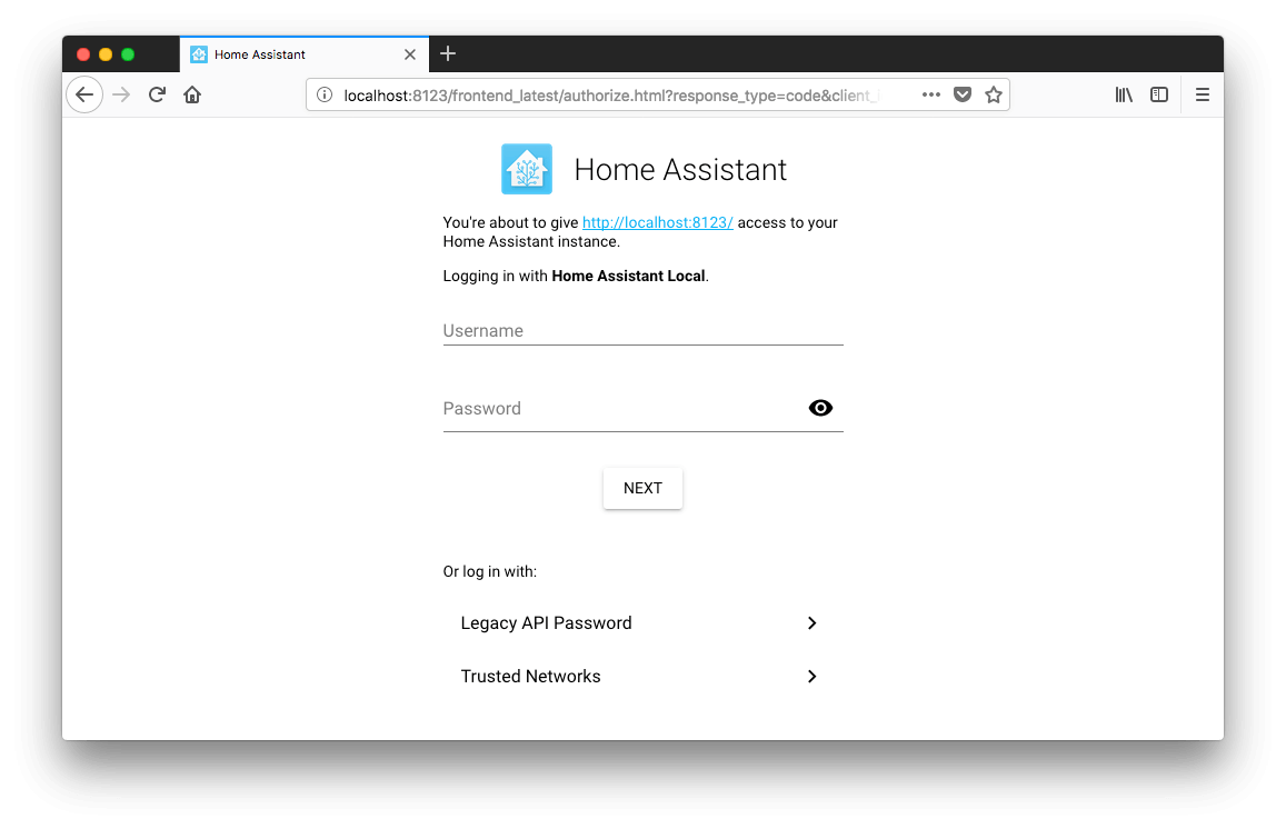 Authentication - Home Assistant